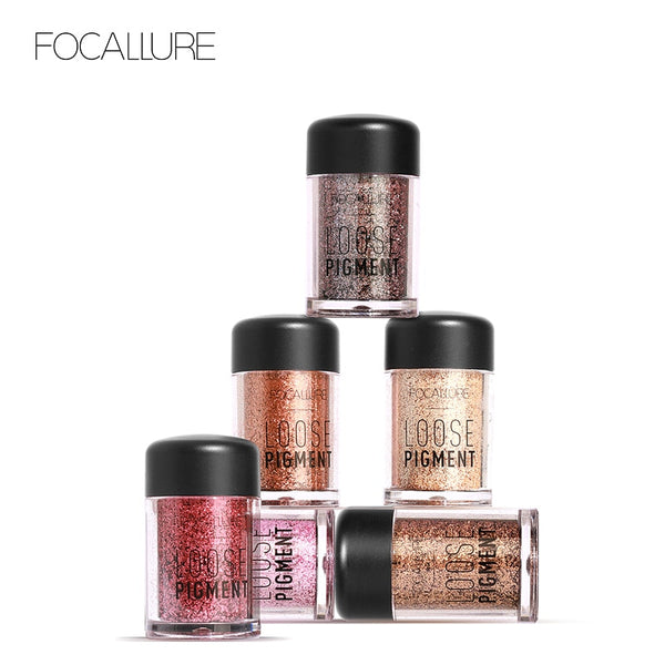 FOCALLURE 18 Colors Glitter Eye Shadow Loose Powder Shimmer Pigment Eyeshadow Makeup