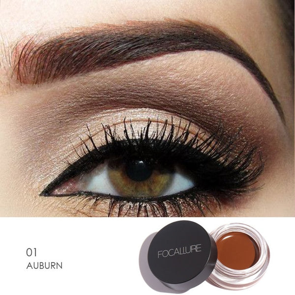FOCALLURE Eyes Comestic Waterproof Eye Liner Gel Makeup Long Lasting Liquid Eyeliner Cream Eyeliner Makeup Set + Black Brush