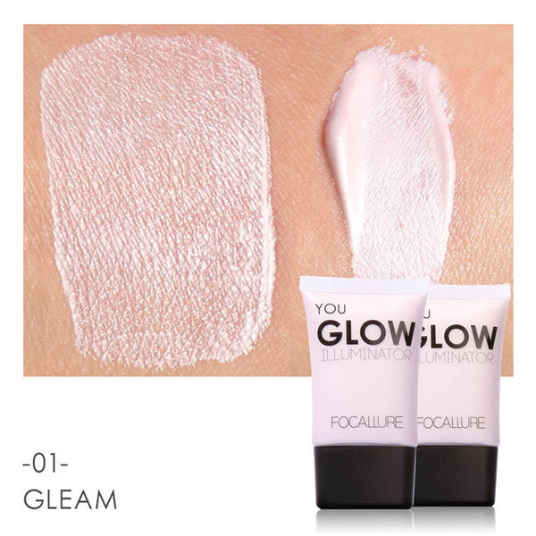 FOCALLURE Face Gold Highlighter Makeup Liquid Glow Illuminator Face Contour Brightener Glow Shimmer Liquid Highlighter Make up