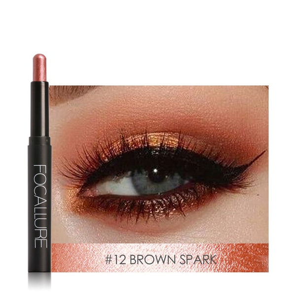 FOCALLURE TOP Glitter Shades Eyeshadow Pencil High Pigment Cosmetic Professional Make up Beauty Highlighter Eye Shadow