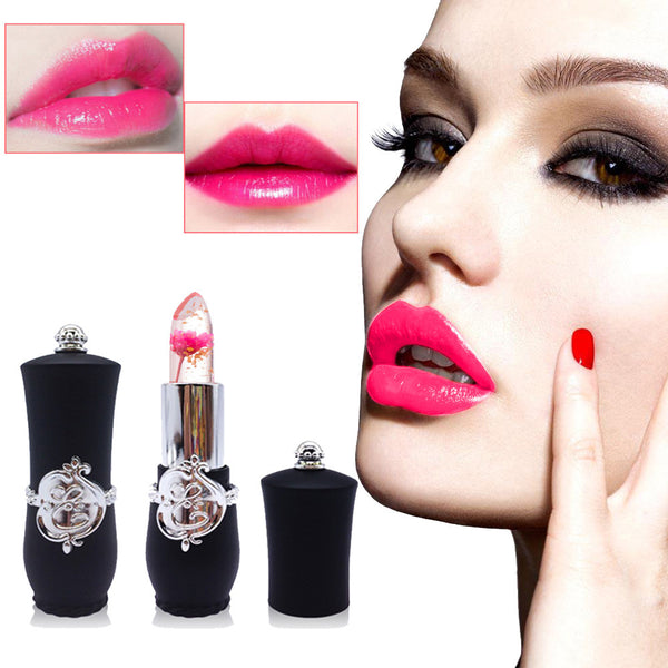 Lipstick Beauty Bright Flower Crystal Jelly Lipstick Magic Temperature Change Color Lip Balm Makeup 6 Colors