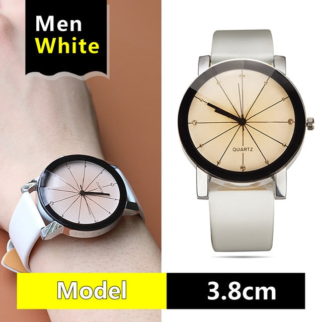 watches Arrival men women's Dial Clock Leather