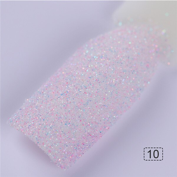 Holographic Sugar Nail Glitter Sandy Holo Powder 1g Summer Candy Nail Color Dust Manicure Pigment Nail Art Decorations for DIY