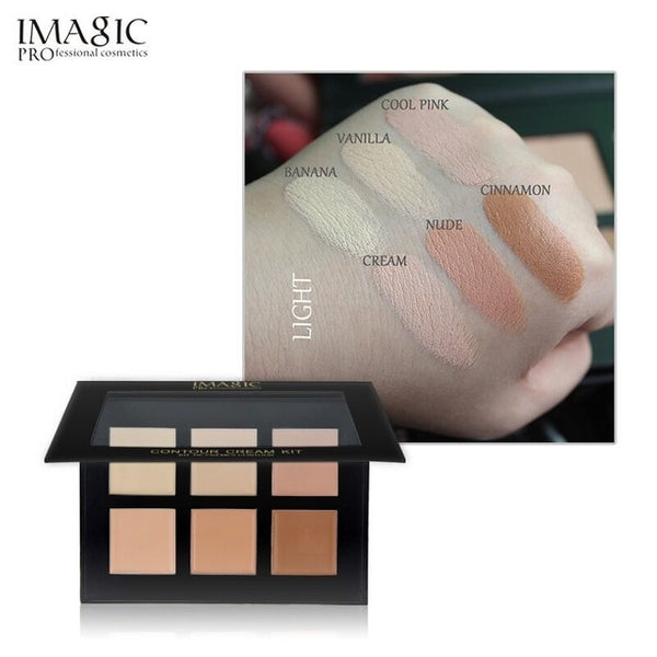 IMAGIC 6 Colors Concealer Cream Contour Palette Kit Pro Makeup Palatte Concealer Face Primer Net 30g All Skin 1pcs free shipping