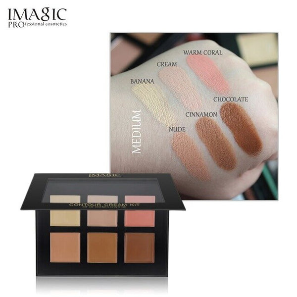 IMAGIC Concealer Cream Contour Palette Kit Pro Makeup Palatte 6 Colors  Concealer Face Primer Net 30g 1pcs