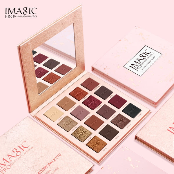 IMAGIC  Eyeshadow  Matte Shimmer Glitter Easy To Wear Eye Shadow Palette  Profissional  Long-lasting  Eye Shadow