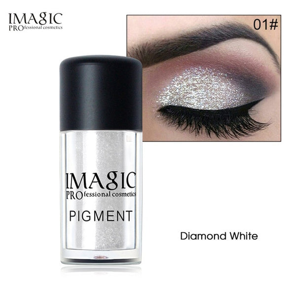 IMAGIC  Glitter Eyeshadow Palette Fashion Shining Metals Powder Shimmer Eye Shadow Pigments Makeup Easy to Wear