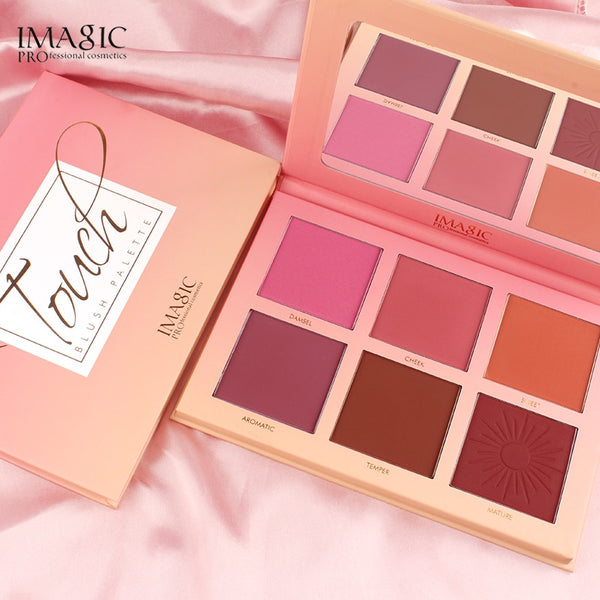 IMAGIC Makeup 6 Color Blush Rouge Natural Nude Makeup Clearing Brightening Complexion