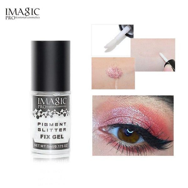 IMAGIC Makeup Fix Gel Glitter Eyeshadow Shimmer Pigment Loose Powder  Liquid Glue Waterproof Lasting Glitter  Shimmer Eyeshadow