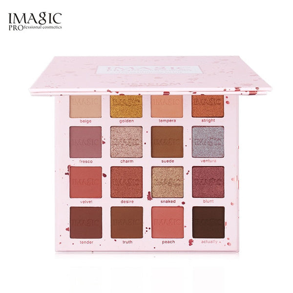 IMAGIC Professional  16 Color  Eyeshadow  Matte Shimmer Glitter Easy To Wear Eye Shadow Palette  Long-lasting  Eye Shadow