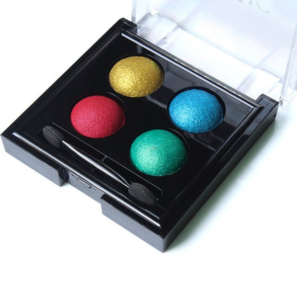 IMAGIC  Professional Eyes Makeup Pigment Eyeshadow 4 Colors Waterproof  Eye Shadow Palette With brushes Beauty