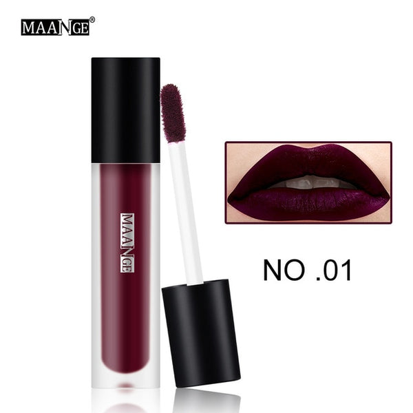 12 colors Lipgloss Waterproof Matte Lipstick Red Makeup Lips Nude Sexy Lip Gloss Longlasting Makeup Beauty Cosmetic Tools