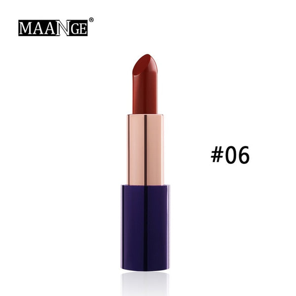 New 8 Colors Moisturizing Lipstick Luxury Waterproof Long Lasting Easy To Wear Makeup Maquiagem Sexy Lady Red Lip Stick NEW