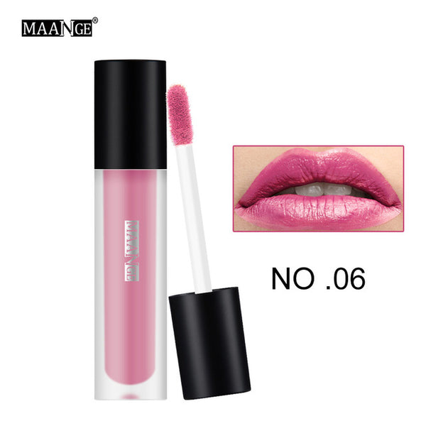 pro Lip Gloss Lipstick 12 Sexy Colors Waterproof Smooth Easy To Wear Longlasting Moist Matte Lip Paint sticker Makeup