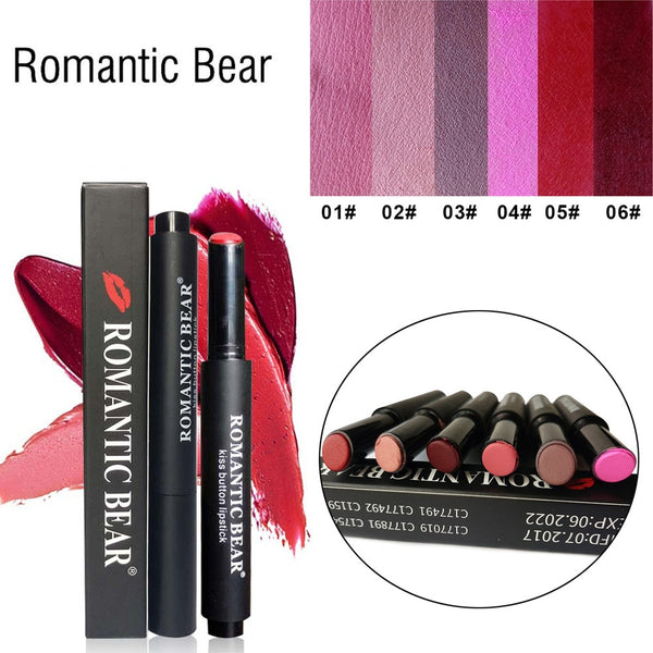 New Long-lasting Kissproof Waterproof Lip Gloss Press Type Liquid Lipstick Moisturizer Velvet Lipstick Cosmetic Beauty Makeup
