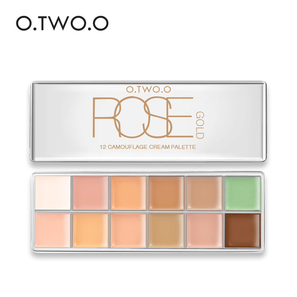 O.TWO.O 12 Colors Concealer Palette Makeup Invisible Pore Wrinkle Cover Concealer foundation brightener makeup full cover