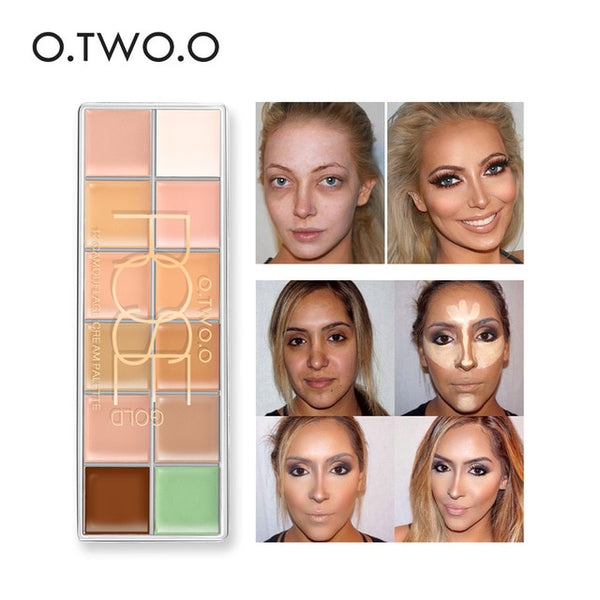 HIGH QUALITY 12 Colors Palette Concealer Face Contouring Makeup Concealer