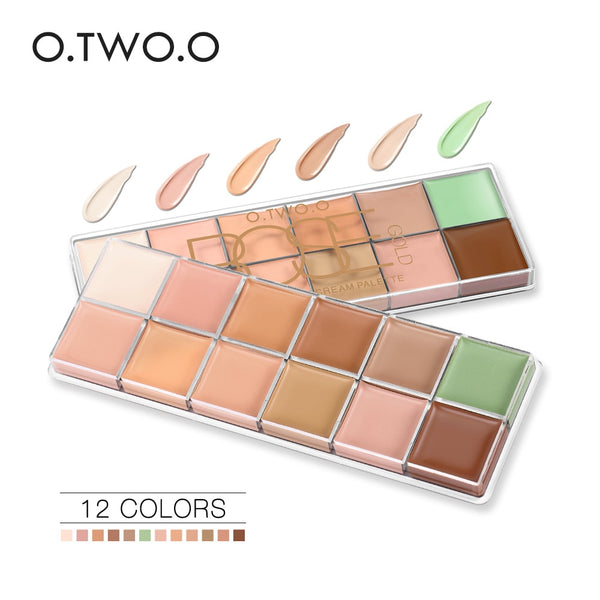 O.TWO.O 12 Colors Palette Concealer Face Contouring Makeup Concealer Cosmetic Facial Care Cream Palette