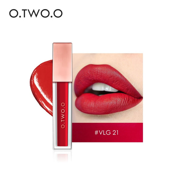 O.TWO.O 15 Colors Waterproof Matte Liquid Lipstick Moisturizer Smooth Lip Stick Long Lasting Lip Gloss Cosmetic Beauty Makeup