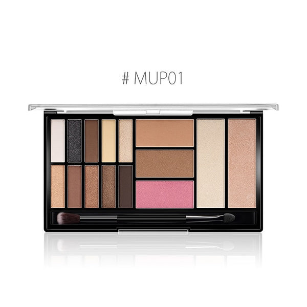 O.TWO.O 15 Full Colors Eyeshadow Palette Matte Eye Shadow Palette Pigment Glitter Make Up Eyeshadow Palettes Nude Shadows