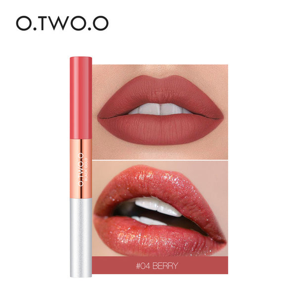 HOT 2 in 1 Matte Lip Gloss Glitter 6 Colors Waterproof Long Lasting Liquid Lipstick Velvet Texture Beauty Lips Makeup