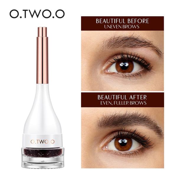 O.TWO.O 3D Eyebrow Extensions Long Lasting Gel Fiber Waterproof Eyebrows Increase Cream Building Brow Hair With Eyebrow Brush