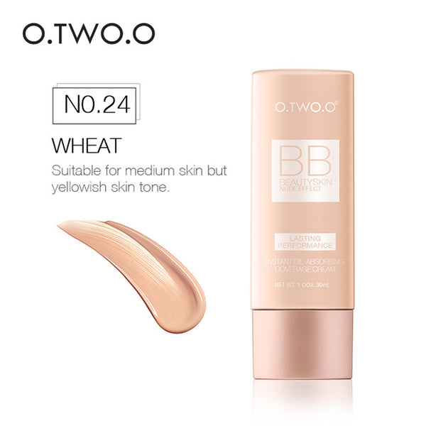 O.TWO.O BB Cream Concealer Moisturizing Foundation Makeup Bare Whitening Oil Control Face Beauty Makeup 30ml Liquid Foundation
