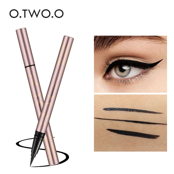 O.TWO.O Black Liquid Eyeliner Eye Make Up Super Waterproof Long Lasting Eye Liner Easy to Wear Eyes Makeup Cosmetics Tools