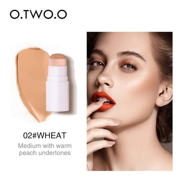 O.TWO.O Concealer Stick Full Cover Air Cushion Contour Face Makeup Waterproof Lasting Hide Pore Blemish Bronzer Stick Cosmetics