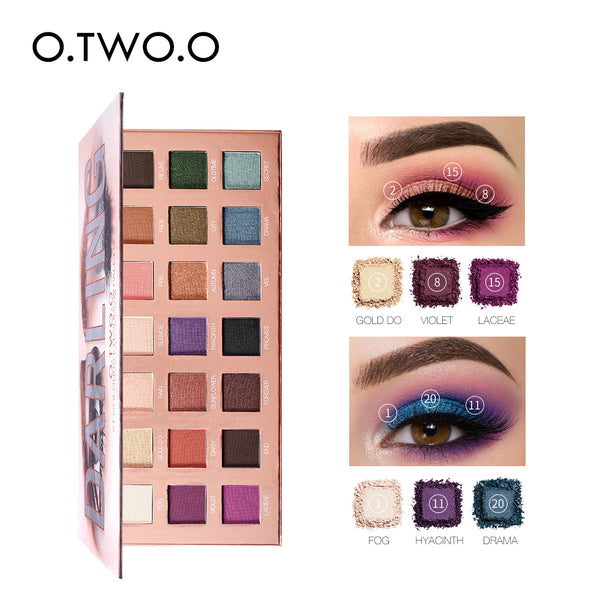O.TWO.O Eyeshadow Palette 21 Color Matte Shimmer High Pigmented Eye Shadow Powder Makeup Long Lasting Glitter Eyes Cosmetics