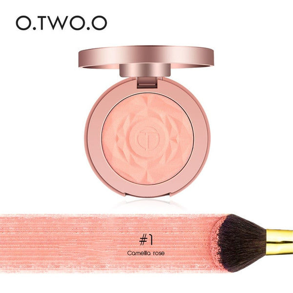 O.TWO.O Face Blusher Powder Palette Makeup Cheek Blusher Powder Minerals Palettes Blusher Brush Palette Cream Natural Blush