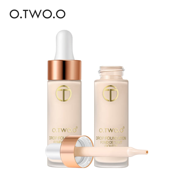 O.TWO.O Full Cover Matt Liquid Foundation Makeup Face Base Long Lasting Concealer Primer BB Cream Make Up Cosmetics 15ml