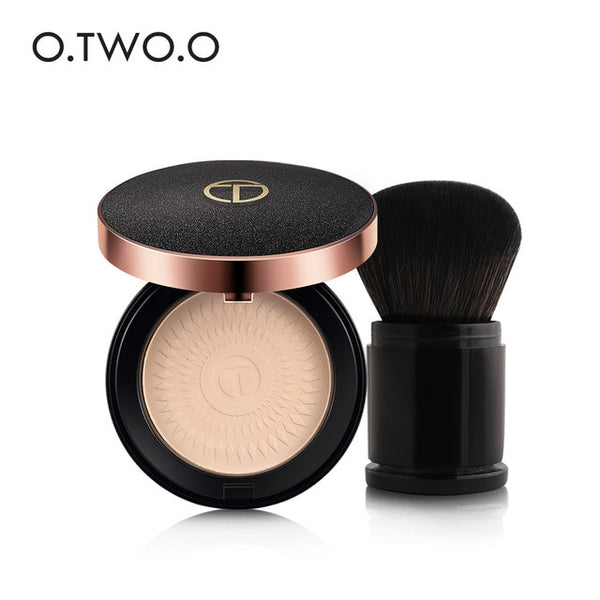 O.TWO.O Make Up Set Face Powder +Make Up Brush Foundations Oil-control Brighten Concealer Whitening Pressed Powder With Puff