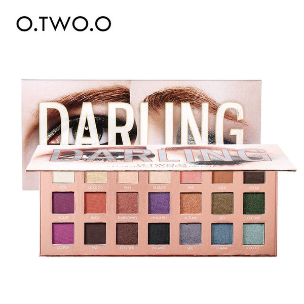 O.TWO.O Makeup Eyeshadow Palette Pigment Powder Glitter Shimmer Matte Smoky Eye Shadow Pallete maquiagem 16/18/21 Colors