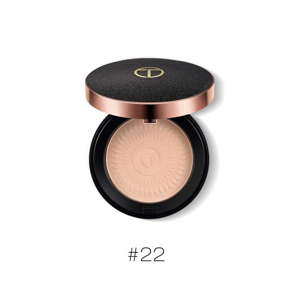 O.TWO.O Natural Face Powder Mineral Foundations Oil-control Brighten Concealer Whitening Make Up Pressed Powder With Puff