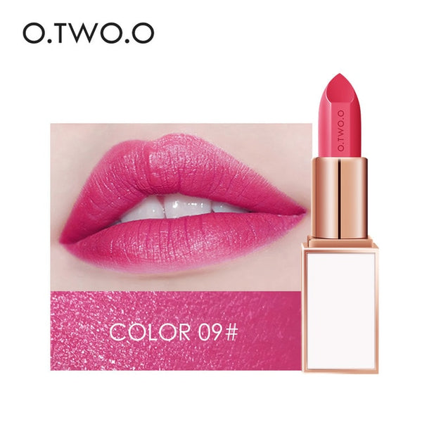 O.TWO.O Semi-velet Lipstick 20 Colors Moisturizer Long Lasting Makeup Waterproof for Comfortable Non-drying lip stick Cosmetics