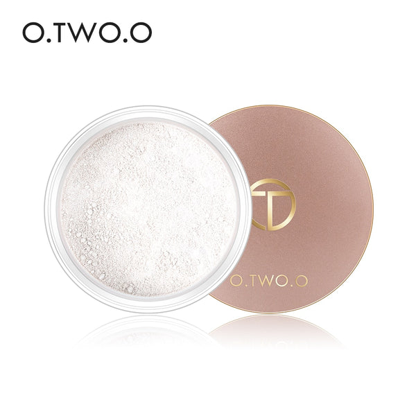 O.TWO.O Smooth Loose Powder Matt Makeup Transparent Finishing Powder Waterproof Cosmetic Puff For Face Finish Setting With Puff