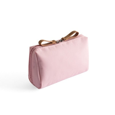 Solid Cosmetic Bag  Style Women Makeup Bag