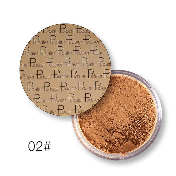 New 8Colors Loose Powder Makeup Face Setting Compact