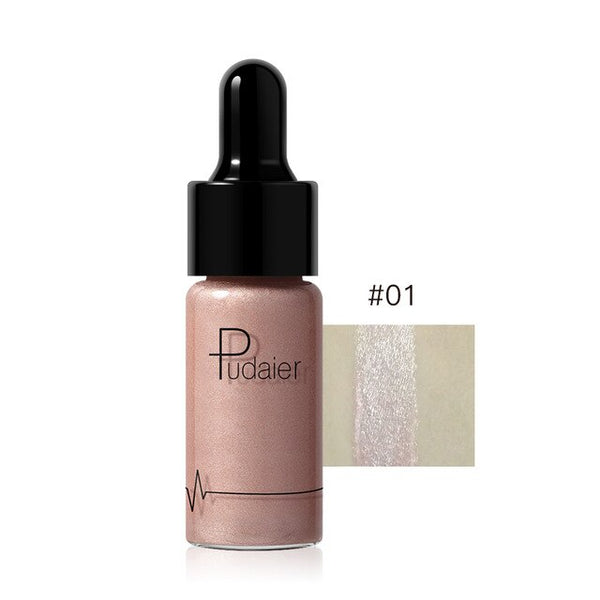 Liquid Highlighter Shimmer Shine Lasting Brighten Make Up Cream 12 Colors