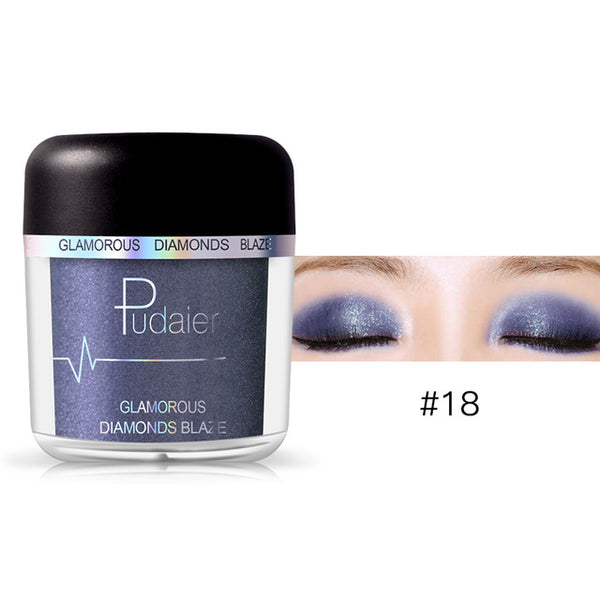 HOT 28Colors Loose Pigment Eyeshadow Eye Shadow Glitter Gold