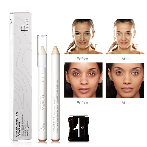Cream Concealer Pencil With Sharpener Waterproof Makeup Full Coverage