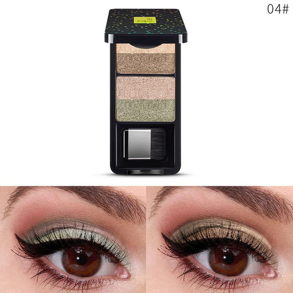 NEW Small Brush Eye Shadow Box with Mirror Palette Eyeshadow 9Colors