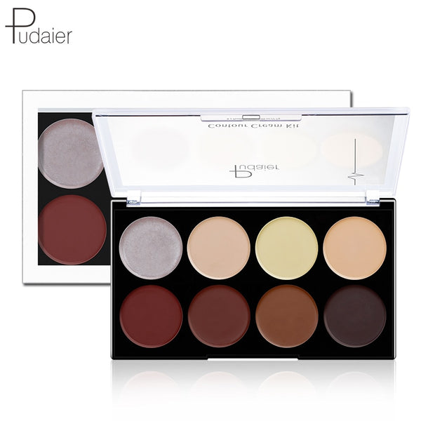 Pudaier 1PC Contour Cream Kit Loose Powder Palette Makeup Highlighter Matte Setting Powder Concealer High-gloss Oil-anti