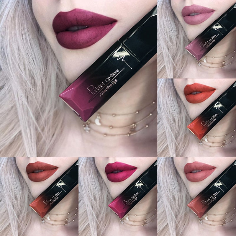 Waterproof Velvet Liquid Lipstick Sexy Red Lip Tint 21 color