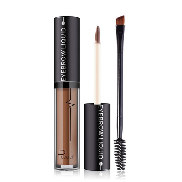 4 Colors Liquid Eyebrow with Brush Waterproof Eye  Natural Beauty Makeup