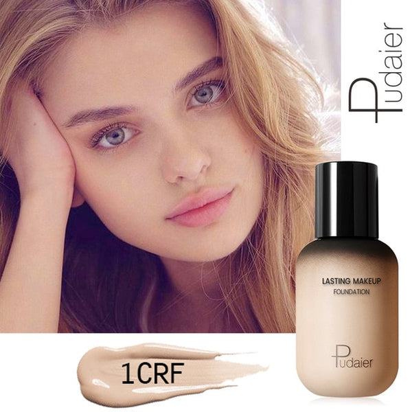 Pudaier 40ml Matte Makeup Foundation Cream for Face Professional Concealing Make up Tonal Base high coverage Liquid long-lasting