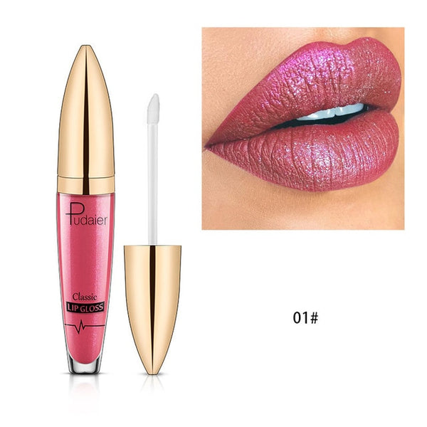 New  Diamond Glitter Lip Gloss Matte Liquid Lipstick Layered Sexy Lips