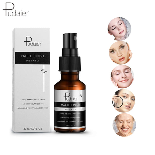 Pudaier Face Spray Profesional Maquillaje Fix Mist Matte Dewy Finish Moisturizing Toner Spray Makeup Setting Spray Oil-control