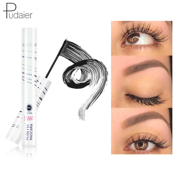 Pudaier Mascara Waterproof Liquid Makeup Curling Rimel de Alargamiento 4d Silk Maquillage Eyelashes Thick Lash Eyes Extension